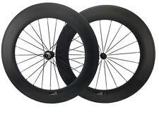 Ceramic Bearing Hub 88mm Clincher Carbon Road Bike Cycling Wheel U-Shape 25mm