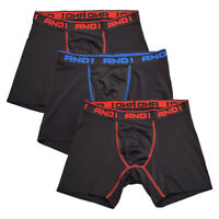 AND1 Men's 3 Pack Performance Boxer Briefs (S02)