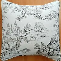 TOILE Black on Ivory Pillow Cover Cotton French Country - Made USA