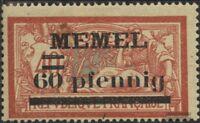 Memelgebiet 24y gestempelt 1920 Freimarken