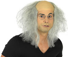 Adult Grey Mad Professor Wig Old Man Halloween Fancy Dress Costume Accessory