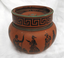 Classical Greek Design Tobacco Jar - Terracotta Tobacco Jar c 1860s