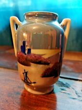 Small Vintage Noritake Urn Vase - Lighthouse Scene
