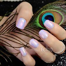 Press on nails ebay holographic fake nail light pink mirror false nails full wrap diy nail tips z720 solutioingenieria Image collections