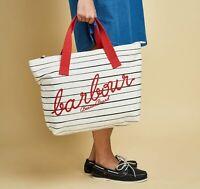 New Barbour Littlehaven Cotton Tote Bag Shopping Handbag Free Postage