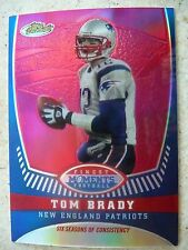 2008 TOPPS FINEST#TB11- FINEST MOMENTS REFRACTOR - TOM BRADY. NM-MT, 62/149