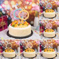 1pc Creative Acrylic Cake Inserts Happy Birthday Cake Decoration Party Supplies