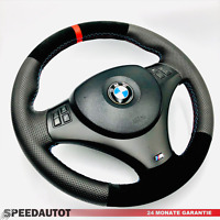 Volant en Cuir Airbag BMW M-POWER E81 E82 E84 E87 E88 E90 E91 E92 E93 Rouge