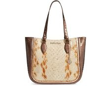 NWT Brahmin Medium Lena Honey Carlisle Leather Tote Bag