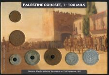 Palestine Coin set:1-100 Mils 1937-46 * Gen. Allenby entering Jerusalem 1917 *