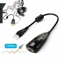 USB 2.0 Mikrofon- / Kopfhöreranschluss Stereo-Headset Audio Adapter Soundkarten