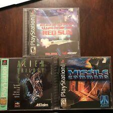 Playstation Games Alien Trilogy/Missile Command/Colony Wars III Red Sun Used