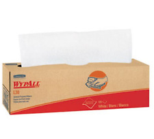 Wypall L30 Light Duty Wipers 100 Count, 9.8 x 16.4 Double Reinforced - White
