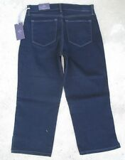 NYDJ Push Up Pliegue Crop Jeans Talle Alto Oscuro Eua Talla 6P Eur 36 Nuevo