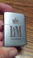 ZIPPO LIGHTER 1958 rare L & M Cigarettes logo used condition no box