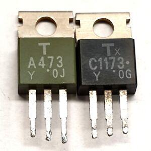 2SA473 2SC1173  Toshiba Matched pulled original transistors Group Y