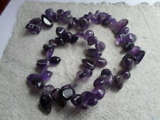 "16"" Strand of Beads ~ Amethyst irregular top drilled nuggets  ~ drops"