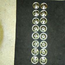 Set of 16 (Sixteen) Zinc Plated Tonka Round Hole Hubcaps Toy Parts, Semi Trucks