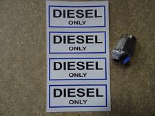 4 X Diesel Uniquement Carburant Bouchon de remplissage Rabat Autocollants Voiture Van Camping-Car Camion flotte