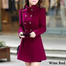 Fashion Women Winter Korean Long Coat Jacket Windbreaker Slim Outwear