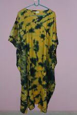 Women's Kaftan Plus Size Long Maxi Gown Beach Party Lounge Dress Tie-Dye 3X-6X
