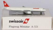 Schabak Airbus A321-211 Swissair HB-MIK in 1:600 scale