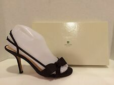 Kate Spade Lover Satin Sandals Heels Slingbacks Bow Brown Chocolate 7 B Italy