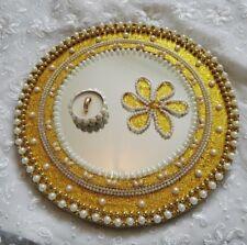 Mehndi Engagement Nikah Wedding Celebration Mirror Plates