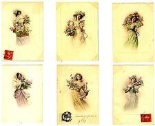 CPA Carte Fantaisie Viennoise Femme série de 6 cartes n°276 fantasy postcard
