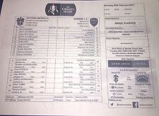 Sutton United v Arsenal Fa Cup 5th Round Teamsheet Only