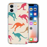 For Apple iPhone 11 Silicone Case Australia Kangaroo Pattern - S5966