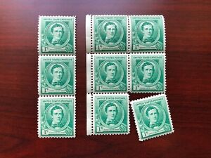 """(9) US #879 Stephen C. Foster 1c Mint NH 1940 """"AS IS"""""""