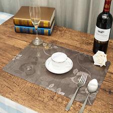 Arzoe 4X PVC Waterproof & Anti oil Tableware Dining Placemats Pad Mat AuSeller
