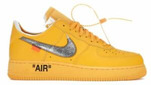 """OFF-WHITE Nike Air Force 1 Low """"ICA"""" University Gold Size 15"""