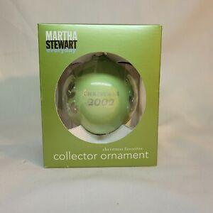 Martha Stewart 2002 Christmas Favorites Ornament Green/Silver Floral  NIB