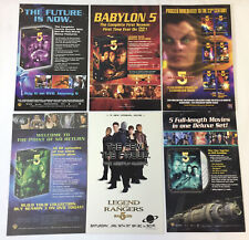 collection/lot of six Babylon 5 ad pages