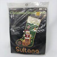 Christmas Stocking Kit 1149 Sequin Felt Needlecraft Jack In The Box New Sultana
