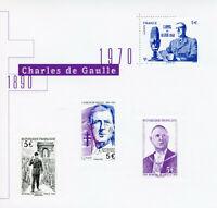 France Historical Figures Stamps 2020 MNH General De Gaulle WWII WW2 4v M/S