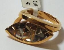 Ring Munsteiner Cut Rauchquarz .750 Gold 22 x 11 mm          #  g 1460