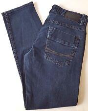 CALVIN KLEIN denim Jeans women's size 32 Blue dark wash Slim Straight Low rise