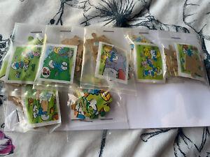 Kinder Surprise Smurfs Jigsaw Puzzles All Complete. K97. Fererro. Kinder Egg.