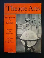 THEATRE ARTS magazine Oct 1940 The Great Dictator Chaplin, Foreign Correspondent