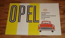 Original 1958 Opel Full Line Sales Brochure 58 Olympia Rekord Caravan
