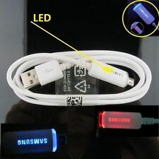 OEM Led Micro Data Charger Usb Cable For Samsung Galaxy S3 S7 S6 Edge Note 5 4 2