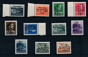 [33537] Albania 1939 Good set Very Fine MH stamps