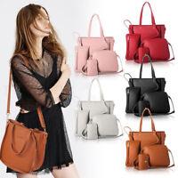 4pcs Women Lady Leather Handbag Shoulder Bags Tote Purse Messenger Satchel HOT