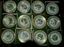 Set Of 12 Lenox Beohm Limited Edition Birds Collectors Plates W/ Boxes & Insert