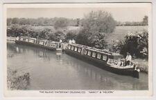 "Shipping postcard - The Inland Waterway Cruising Co. ""Nancy & Nelson"" - RP"