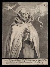 santino incisione 1700 S.GIOVANNI DELLA CROCE wolfgang
