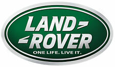 "LAND ROVER ONE LIFE.LIVE IT. DIGITALLY CUT OUT OVAL VINYL STICKER. 5"" X 3"" SIZE."